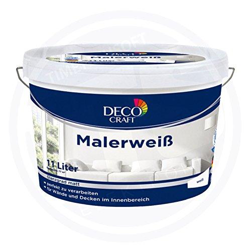 DECO CRAFT Malerweiß Weiß Seidenmatt 11 Liter 77 m²