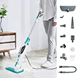Dcenta Steam Mop, 12 in 1 Detachable Handheld Steam Cleaner for Hardwood,Tiles,Carpet with Multifunctional Tools,1500W Handheld Steamer for Home,Kitchen,Garment