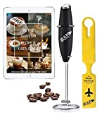 gulp Milk Frother for Coffee Handheld Battery Operated Electric Foam Maker Mixer