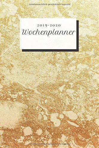 Wochenplanner 2019-2020: Terminkalender für Termine, Meetings, Business, Jahresübersicht, Tagesübersicht, Notizen, Kontakte, Luxus Gold Cover 191 Seiten