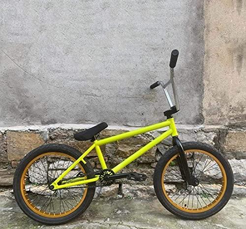 YANGHONG-Bicicleta de montaña deportiva- Bicicleta de acción de truco adulto, bicicleta de estilo libre conveniente para principiantes a nivel avanzado Bicicletas de motas de acero de acero 20 pulgada