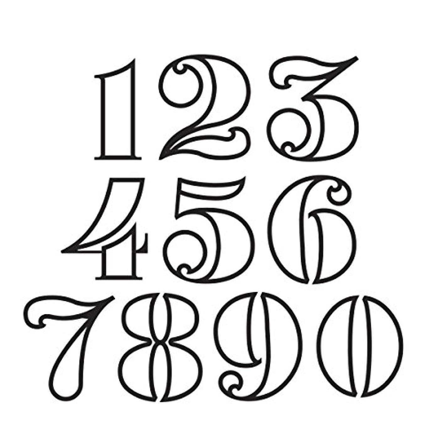 Darice 30023091 Die Cut Emboss Stencil Numbers