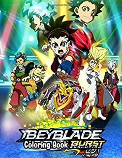 Beyblade Coloring Book: Drawing Art 8.5 x 11