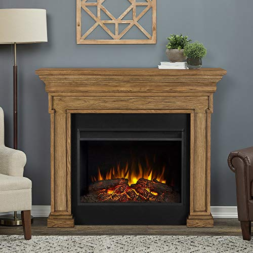 Real Flame Emerson Grand Electric Fireplace, English Oak