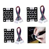 CCTREE 3D Printer Smoother Addon Module for Pattern Elimination Motor Clipping Filter for Ender 3 CR-10S,Ender 5 Stepper Motor Drivers (Pack of 3pcs)