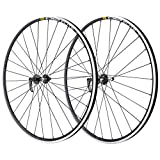Velox Mavic CXP Elite/Miche Reflex - Rueda para Bicicleta de Carretera, Color Negro, 700c-Front