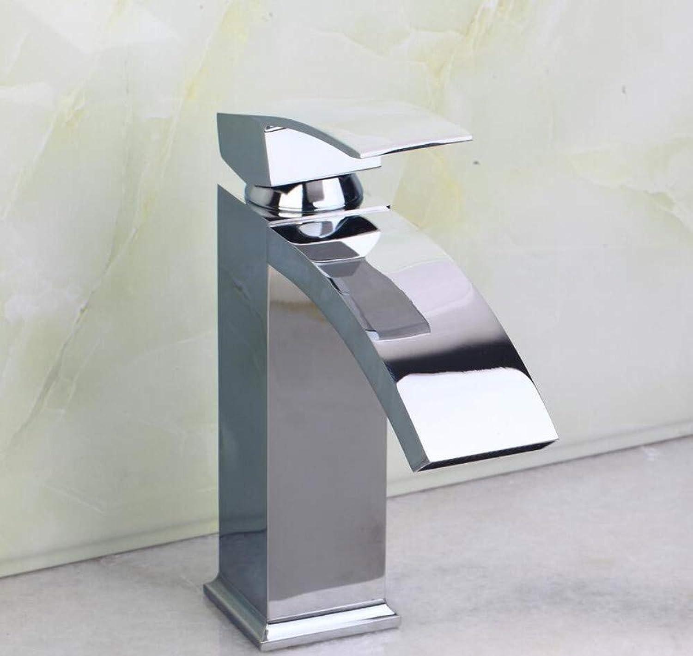 Wasserhahn Waschbecken Bathroom Basin Sink Faucet Chrome Single Handle Waterfall Tap Counter Basin Faucet