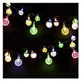 Cadena de Luces, Mr.Twinklelight 4.5M 30 LED Solar Bola de Cristal Luz Decorativa para Jardín, Terraza, Boda, Árbol de Navidad, Fiesta, Patio, Multicolor