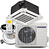 Pioneer Ceiling Cassette Split Ductless Inverter+ Heat Pump System Set, 18000 BTU
