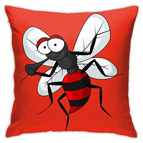 Hangdachang Throw Pillow Case 45cm x 45cm Mosquito Pillowcase,Square Throw Covers,Decorative Cushion for Sofa Couch Car