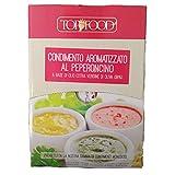 Box - Acondicionador aromatizado a base de aceite de oliva virgen extra 98%, Topfood, 800 ml, Street Food, bolsitas