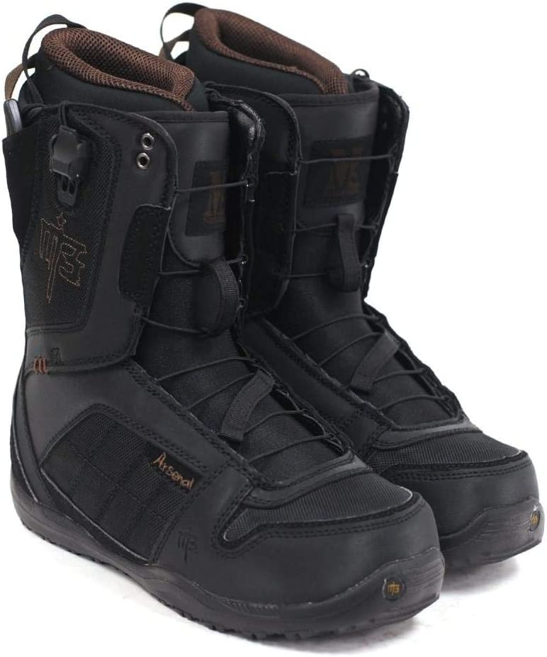 M3 Millenium Three Arsenal Mens Brown Black Size Boots NEW before selling Outlet sale feature Snowboard