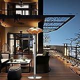 YBCM Heizstrahler für Terrasse, Infrarot stehend Stand-Heizstrahler elektrisch, 3 Leistungsmodi, Outdoor-heizer mit Überhitzungsschutz, freistehend, wetterfest