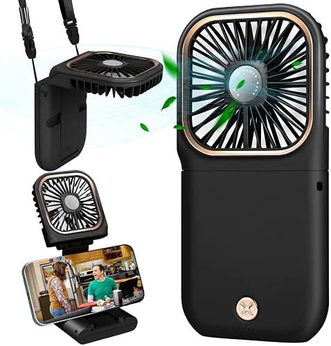 Mini Ventilador de Mano, Ventilador USB de 5000mAh, Ventilador de Escritorio, Ventilador Portátil, Ventilador de Mesa Ventiladores Recargable USB para al Oficina, Hogar, Viajes, Exterior