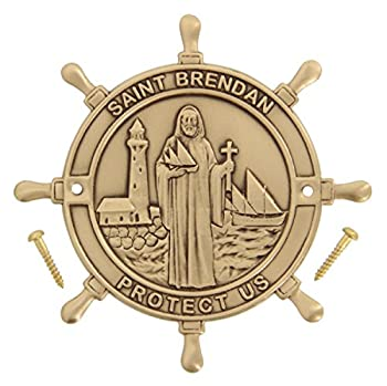 Heartland Boat Plaque - Saint Brendan Protect Us - Best USA Made Quality Boating and Sailing Gift