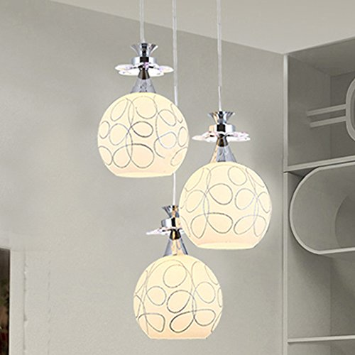 JJ Moderno LED luci pendente Fixture Testa singola lampada lampadario personalità creative lampadari di vetro lampadari, un idilliaco led diametro 20 cm. 220V-240V