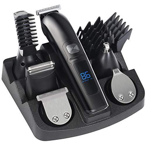 Haarschneider Profi Haarschneidemaschine Herren Elektrisch Friseur 2000mAh Akku Bartschneider Haartrimmer Hair Clipper Trimmer LED Berührungseinstellung, 20 Länge Einstellbar