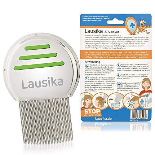 Original Läusekamm von Lausika aus Metall für Kinder und Erwachsene, Nissenkamm gegen Läuse, deutsche Version