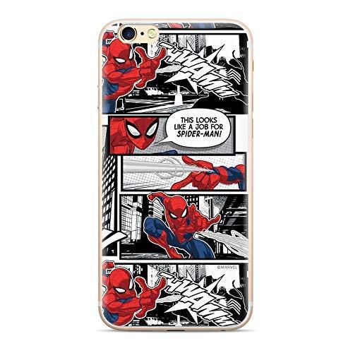 FINOO – Funda para iPhone 7 Plus/8 Plus – Marvel Teléfono Móvil con diseño y protección óptima TPU Silicona Funda Case Cover – Spiderman Comic