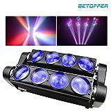 BETOPPER Spider Spot Lampada a testa mobile LED DJ Illuminazione RGBW 8x3W DMX512 Luci da...