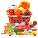 DigHeath 35pcs Pretend Play Food Set,Kitchen Cutting Toys,BPA Free Plastic Fruits & Vegetables for...