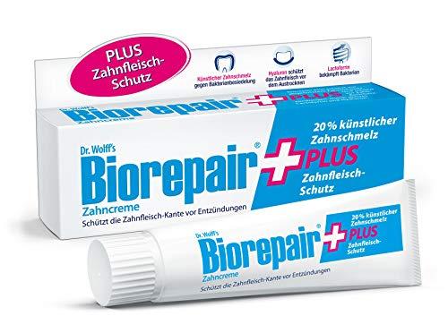 Biorepair Zahncreme Plus – reparierende Zahnpasta mit künstlichem Zahnschmelz – schützt vor Zahnfleisch-Entzündungen, Zahnstein und Zahnbelag – 4 x 75 ml
