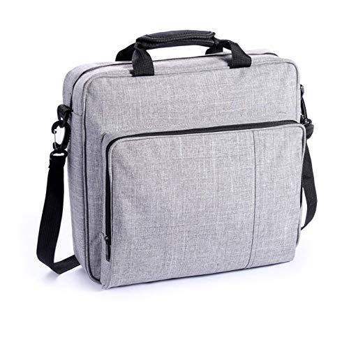 eLUUGIE Reisetasche Tragetasche Tasche für PS4 PRO Konsole Multifunktionale Reise Aufbewahrungstasche Handtasche Schultertasche für PS4 System und Zubehör PS4 Pro/PS4/PS4 Slim (Grau)