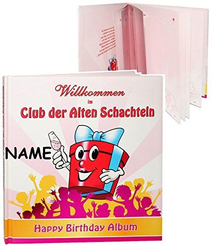 alles-meine.de GmbH Geburtstag -  Willkommen im Club der Alten Schachteln  - incl. Name - Erinnerungsalbum / Fotoalbum - Gebunden zum Einkleben & Eintragen - Album & Erinnerung..