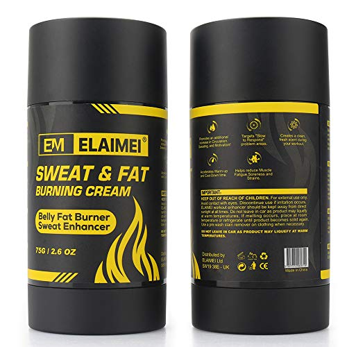 Fat Burning Cream for Belly, Workout Enhancer Gel to Sweat More at Gym & Cardio, Roll-On Stick