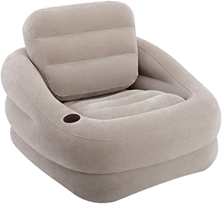 Intex Inflatable Indoor Or Outdoor Accent Chair With Cup Holder Grey-68586