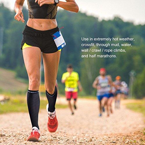 CAMBIVO 2 Paar Kompressionsstrümpfe, Kompressionssocken, Thrombosestrümpfe für Damen und Herren, Laufen, Sport, Medizinisch, Flug, Reise, Radsport, Schwangerschaft - 4