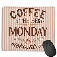 マウスパッド オフィス 最適 英文柄 喫茶店 コーヒー 茶褐色 葉書 ゲーミング 光学式マウス対応 防水性 耐久性 滑り止め 多機能 標準サイズ25cm×30cm