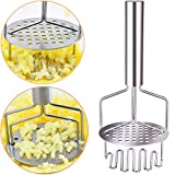 Potato Masher Stainless Steel,Dual-Press Premium Heavy Masher and Ricer Hand Tool,Perfect for Mashing Baby Food