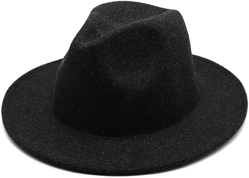 HHF Caps Hats Wide Brim Panama Wool Men Max 72% OFF New Fedoras Women Latest item Hat
