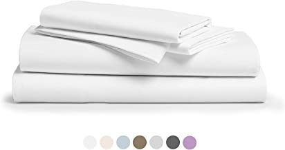 """800 Thread Count 100% Pure Egyptian Cotton – Sateen Weave Premium Bed Sheets, 4- Piece White Queen- Size Luxury Sheet Set, Fits mattresses Upto 18"""" deep Pocket"""