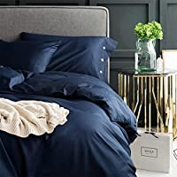 寝具4ピースセットロングステープルコットンソリッドカラー4ピースセットシンプルスカンジナビアンスタイルコットンプレーンシート寝具 - 孔雀ブルー (Size : 1.8m)