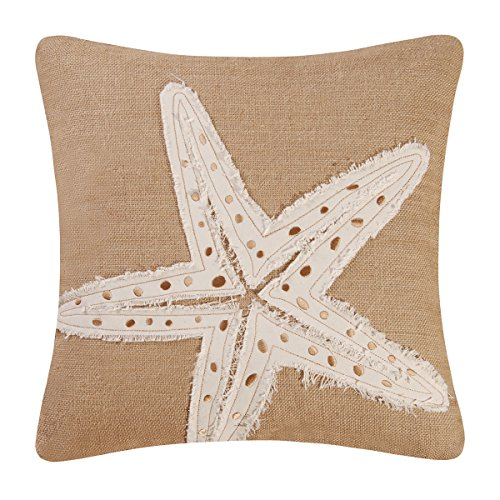 C&F Home Starfish Burlap Pillow 18 x 18 Natural/White