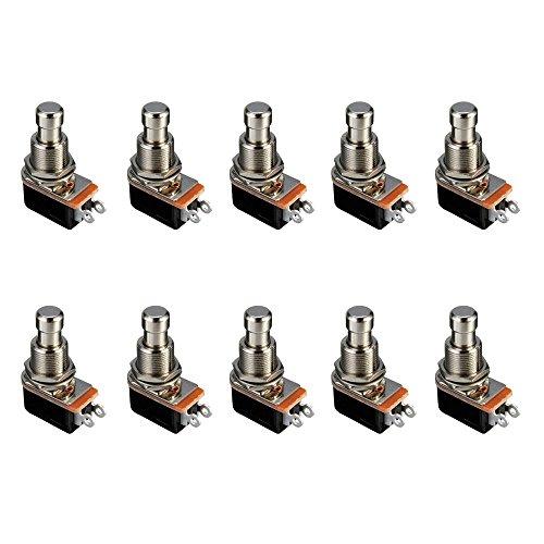 E Support 10 X Elektrische Gitarre Effektpedalkasten Momentaner Druckknopf stampfen Fußschalter