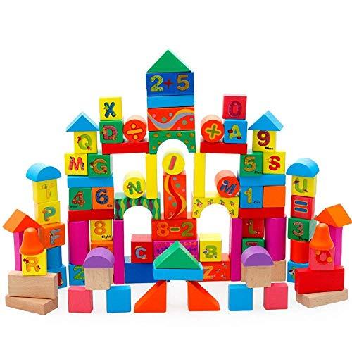 Decoración de muebles para el hogar Juguetes de construcción de edificios Los niños reconocen Castillo digital tridimensional Bloques de construcción grandes de madera Juguetes educativos de bricol