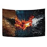 Mabel D. Silva Bat Tapestry Wall Hanging Wall Tapestry Black and White Tapestry Clean Hippie Tapestry Beach Tapestry Wall Tapestry for Bedroom (red, 60x51) [並行輸入品]