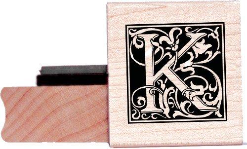 Tampon en caoutchouc alphabet - Lettre K à la William Morris