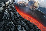1art1 Vulkane - Lavafluss Bei Ätna Vulkanausbruch,