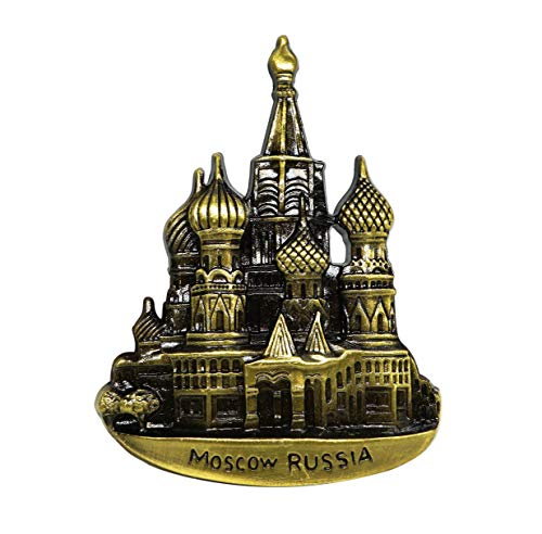zamonji St. Basil Kathedrale, Moskau Russland 3D Metall Kühlschrankmagnete Städte Welt Tourismus Souvenirs Home Dekoration