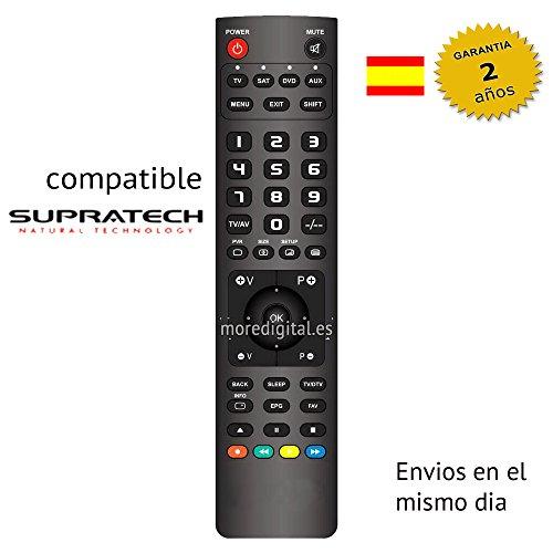 Mando a distancia Especifico para Television Tv Dvd SUPRATECH - Reemplazo