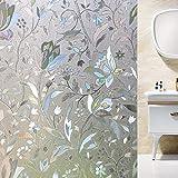 Shackcom Vinilo Película de Ventana Privacidad Pegatina 90 * 400cm-sin Adhesivo-Decorativas para Electrostatica Translucido Anti UV Cristal Laminas Multicolor para Hogar Cocina Baño y Oficina-S161