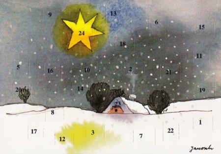 Janosch Adventskalenderkarte Der Stern