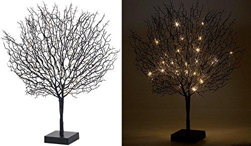 Lunartec Lichtbaum: Moderner Lichterbaum mit 25 warmweißen LEDs, 50 cm, schwarz (LED-Baum innen)