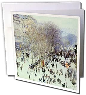 Boulevard des Capucines by Claude Monet, 1873 Paris - Greeting Cards, 6 x 6 inches, set of 12 (gc_126560_2)