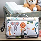 Portable Diaper Changing Pad, Portable Changing pad for Newborn boy & Girl- Baby Changing Pad with Smart Wipes Pocket – Waterproof Travel Changing Station kit - Newborn Essentials Must Haves
