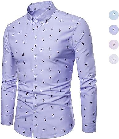 X&Armanis Camisa de otoño para Hombre, Camisa Estampada de ...